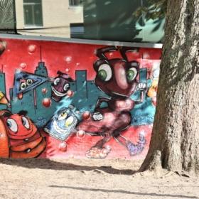 Graffiti Ameise