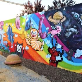 Graffiti Mimi und Mo